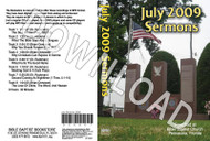July 2009 Sermons - Downloadable MP3