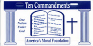 Ten Commandments - License Plate