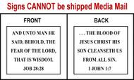 Scripture Sign - Job 28:28 and 1 John 1:7