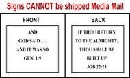 Scripture Sign - Genesis 1:9 and Job 22:23
