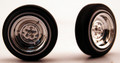 Chrome Reversed Wheels & Tires (2 pair) 1/24-1/25