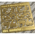 Ladder Bar Front Crossmember Brackets, Brass 1/25