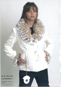 Silk Jacket, Lynx Collar, Lynx Cuffs