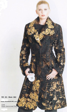 Persian Lamb Coat, Gold Lace Trim