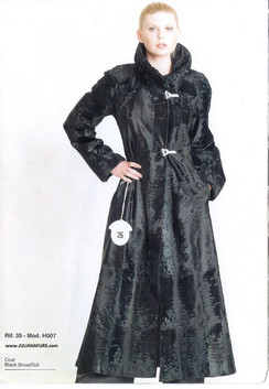 Black Russian Broadtail Evening Coat