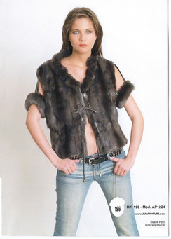 Mink Vest with Armbands