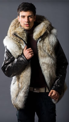Home Men's Fur Coats Men's Coyote Fur Vest