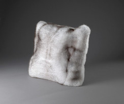 Blue Fox Fur Pillow