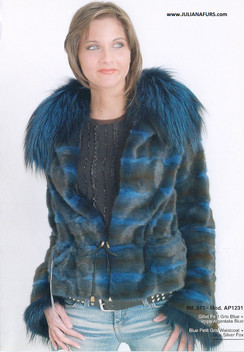 Dyed Blue Silver Fox, Squirrel Jacket