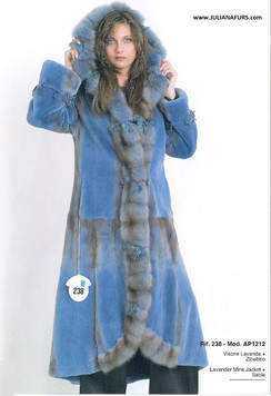 Lavender Mink and Sable Coat, Hooded