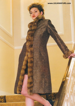 Fur Restyle A Line, Semi Fitted, Tuxido Front
