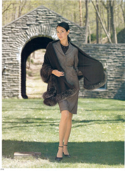 Cashmere Cape, Silver Fox Trim