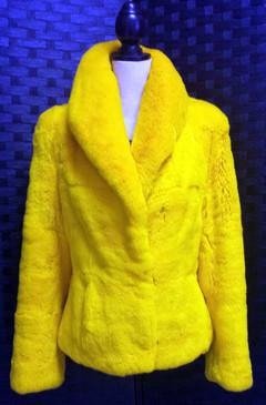 Yellow Rex Rabbit Jacket
