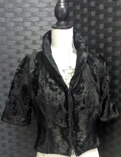 Black Russian Broadtail Bolero Jacket