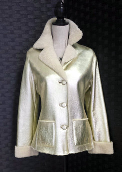 Gold Shearling Jacket