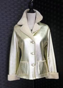 Gold Shearling Jacket