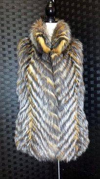 Natural Silver and Red Fox Vest
