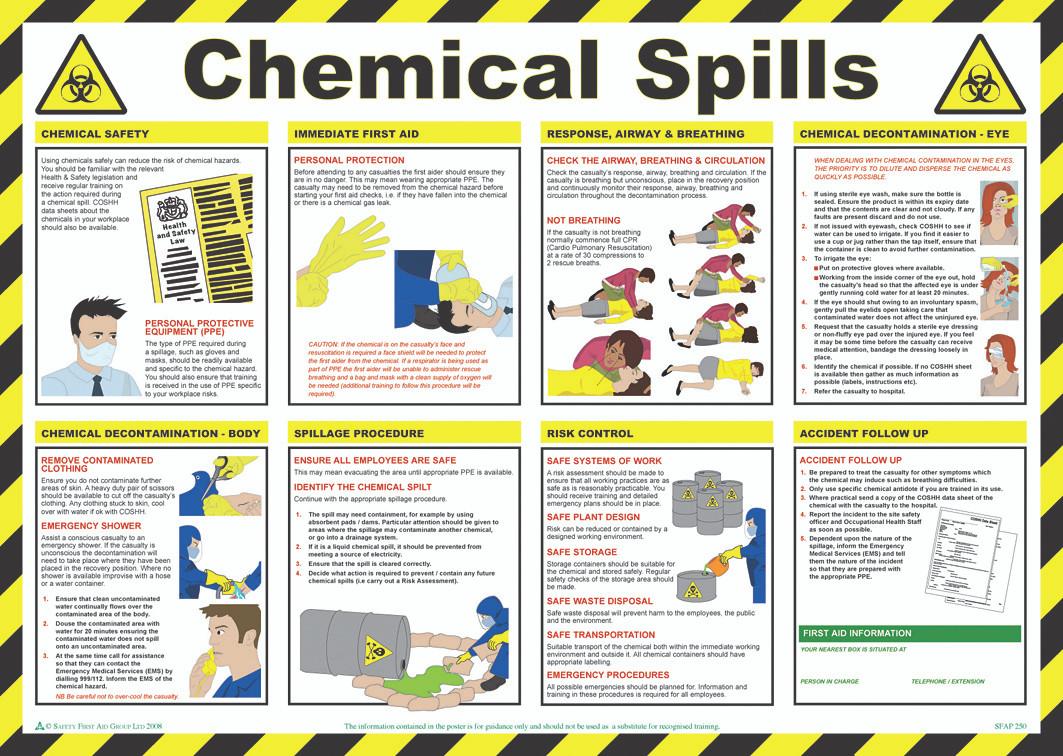 Chemical Spills Poster Easi Med Com Emergency Aid