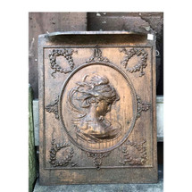 M17017 - Antique Colonial Revival Bronze Plated Cast Iron Summer Cover