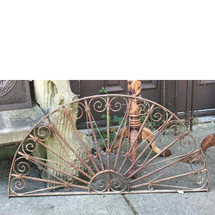 S17049 - Antique Revival Period Wrought Iron Semi Circle Arch