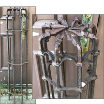 S17050 - Antique Revival Period Wrought Iron Fence Post