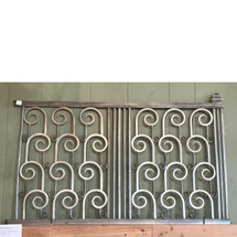 A17073 - Antique Art Deco Nickel Bronze Balcony Railing Panel