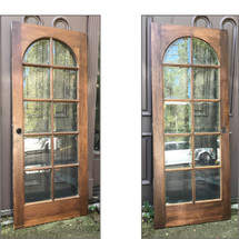 D17145 - Single Vintage Custom Made Mahogany French Door 31-3/4 x 79-1/4