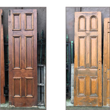"D17152 - Single Antique Victorian Pine Six Panel Church Door 28"" x 95-1/4"""