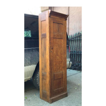 F17111 - Antique Arts and Crafts Quartersawn Oak Paneled Chimney Cabinet
