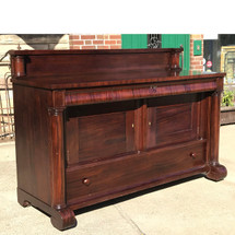 F17121 - Antique Mahogany Empire Revival Style Sideboard