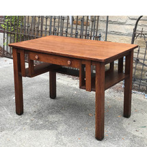 F17129 - Antique Arts & Crafts Library Table