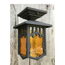 L17249 - Antique Arts and Crafts Flush Mount Exterior Lantern Fixture