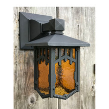 L17250 - Antique Arts and Crafts Exterior Lantern Sconce