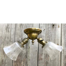 L17255 - Antique Revival Period Two Light Flush Mount Fixture
