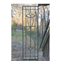 """G17085 - Antique Colonial Revival Beveled """"Tulip"""" Window"""
