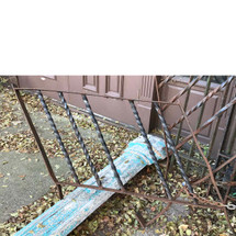 S17079B - Antique Wrought Iron Stair Railing