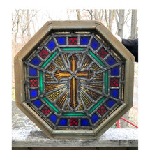 G17086 - Vintage Stained Glass Church Window