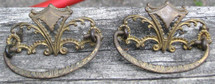 Neoclassical style cast brass drawer pulls