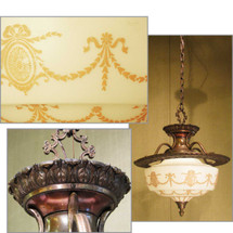 L11186 - Antique Bronze Neoclassical Ceiling Light Fixture