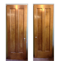 "D12130 - Single Antique Interior Two Panel Door 28"" x 79-3/4"""