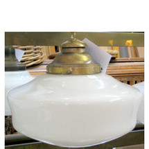 L12160 - Antique Schoolhouse Style Ceiling Light Fixture