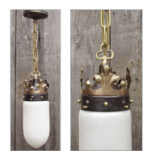 L12292 - Antique Gothic Revival Ceiling Light Fixture