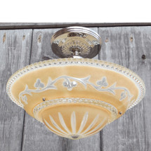 L12429 - Art Moderne Ceiling Light Fixture With Antique Bowl Shade