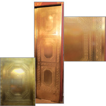 "D13131 - Single Antique Bronze Elevator Door 22"" x 84-1/2"""