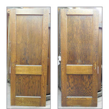 "D13173 - Single Antique Colonial Revival Interior Two Panel Door 29-3/4"" x 79-1/4"""