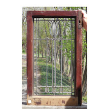 G14034 - Antique Prairie Style Stained Glass Window
