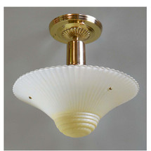 L14129 - Art Moderne Ceiling Light Fixture With Antique Bowl Shade