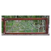 G14052 - Antique Late Victorian Beveled Glass Transom Window