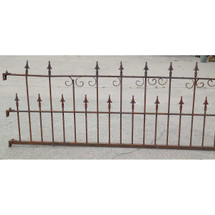 S14025 - Antique Late Victorian Cast and Wrought Iron Fence Section