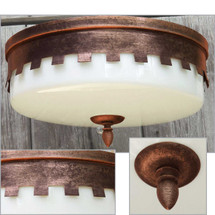 L14217 - Vintage Tudor Revival Flush Mount Light Fixture